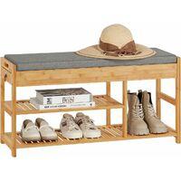 SoBuy Padded Hallway Shoe Storage Rack Bench with Storage Space,FSR47-N