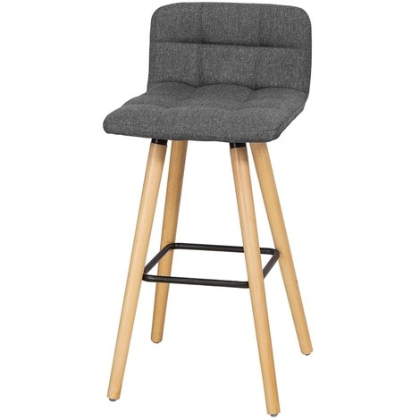 Stupendous Sobuy Padded Kitchen Breakfast Barstool Dark Grey Fst50 Dg Pabps2019 Chair Design Images Pabps2019Com