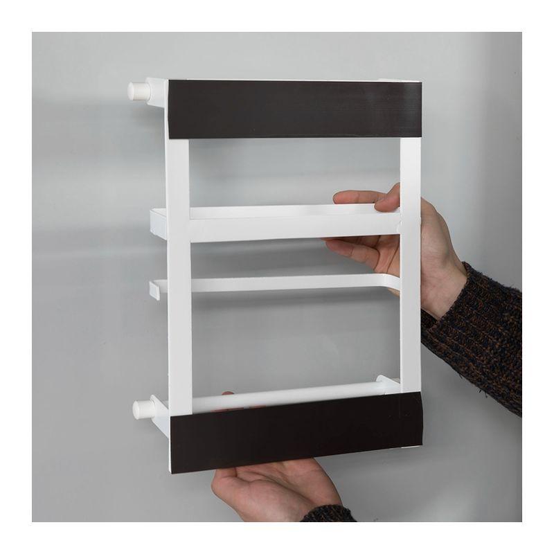 Design a Due Strati Suszian Porta lattine Doppio per Frigorifero con rotelle