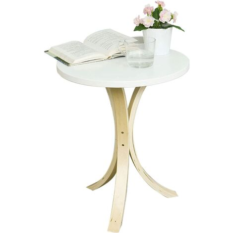SoBuy Round Wooden Coffee Side Table,FBT29-W
