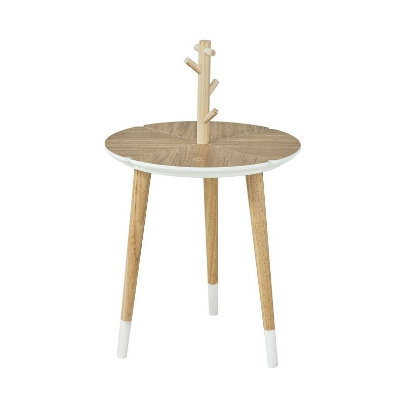 So Round Wooden End Side Table With