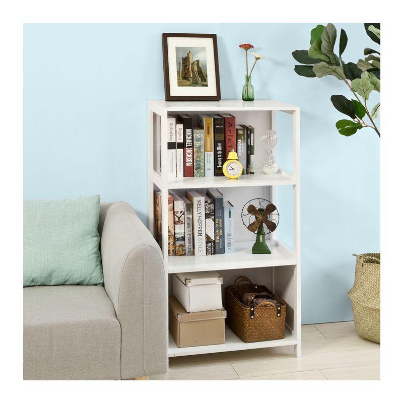SoBuy scala libreria, scaffale angolo , Mobiletto da soggiorno o bagno,  bianco FRG189-W
