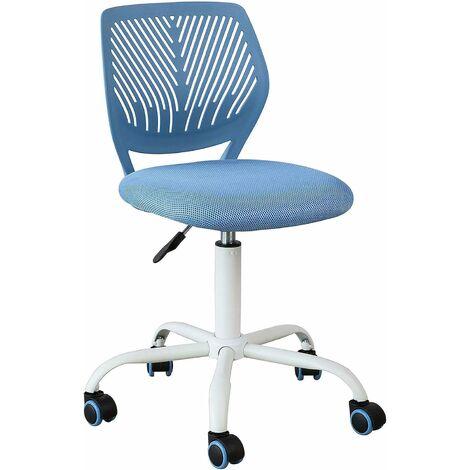 SoBuy Schreibtischstuhl Drehstuhl Bürostuhl höhenverstellbar Blau FST64-BL