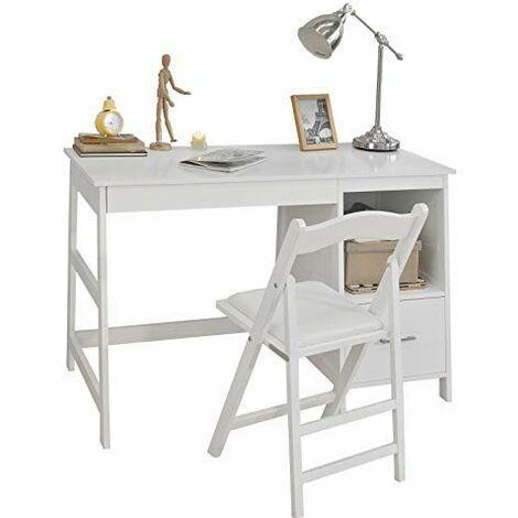 con cassetto,bianco,FWT38-W,IT SoBuy/® Scrivania,Porta PC,Tavolo per Computer
