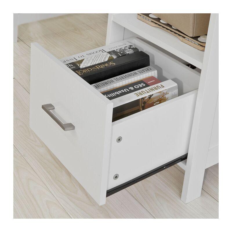 Scrivania Per Computer Bianco.Con Cassetto Bianco Fwt38 W It Sobuy Scrivania Porta Pc Tavolo