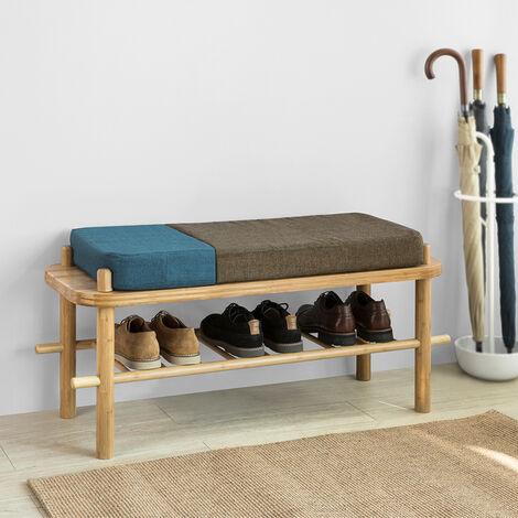 SoBuy Seat Bench Stool Pine Wood Hallway Home Office Chairs L100 cm FSR53-N