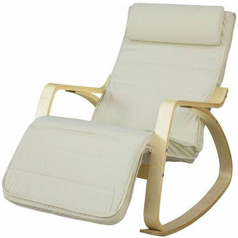 Sedia Dondolo Allattamento.Sobuy Sedia A Dondolo Per Allattamento Poltrona Relax Chaise