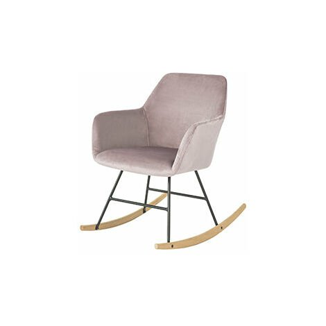 SoBuy Sedia a Dondolo Poltrona Relax Design Carico Massimo