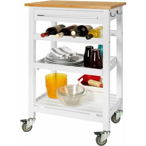 SoBuy Servierwagen, Küchenwagen, Küchenregal, FKW16-WN