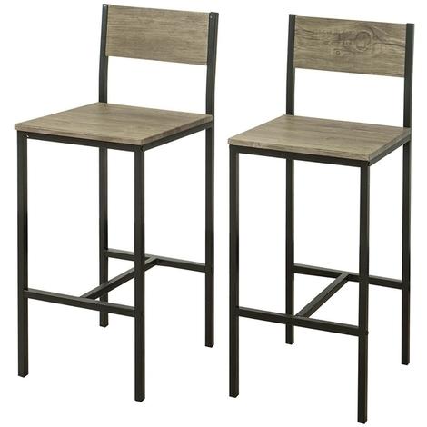 "main image of ""SoBuy Set of 2 Bar Stools Kitchen Restaurant Barstools High Chairs,FST53-HGx2"""