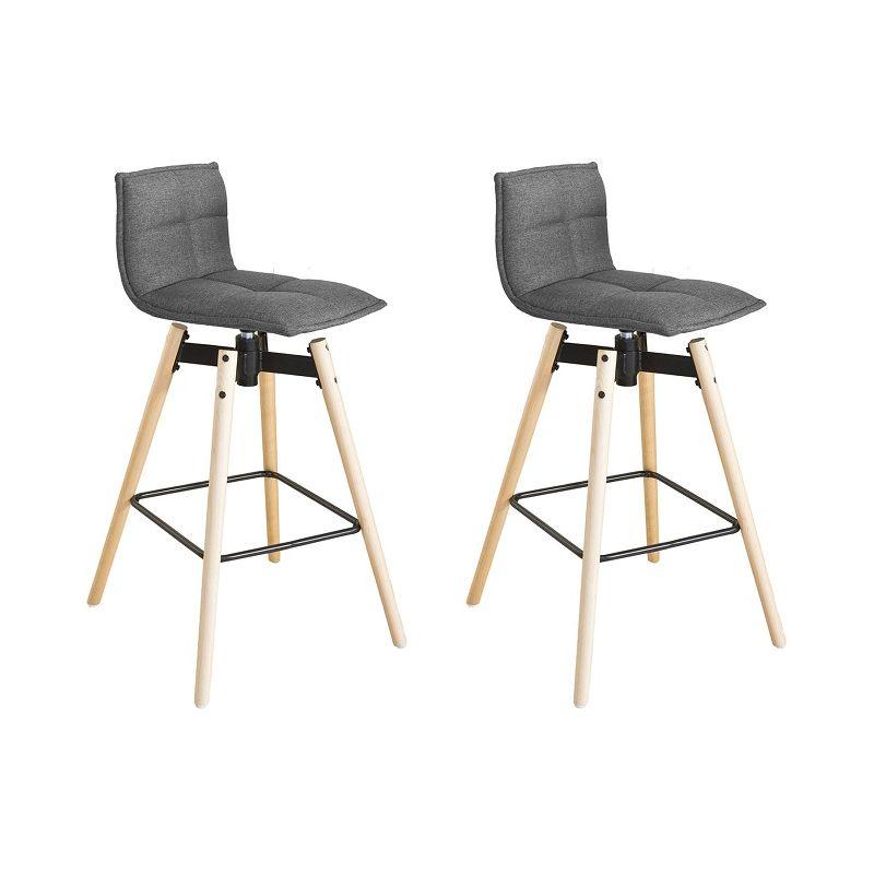 save off 71f11 bcf54 SoBuy Set of 2 Swivel Kitchen Breakfast Barstool, 360° Rotating Bar Stool  Chair with Backrest,FST45-DGx2