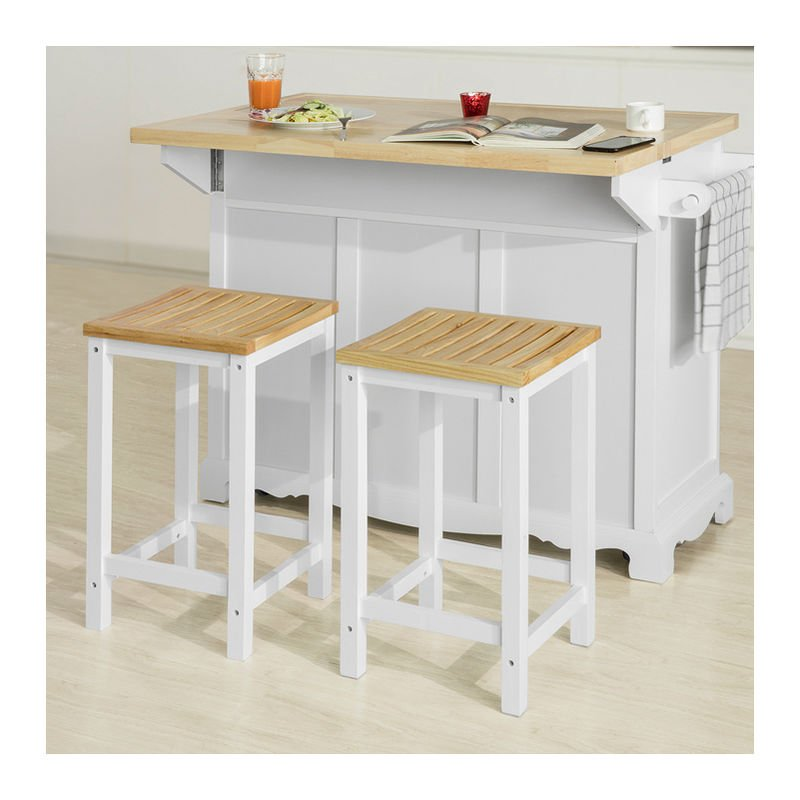 Cool Sobuy Set Of 2 Wooden Kitchen Breakfast Bar Stool Kitchen Stool Dining Stool Bathroom Stool Fst29 Wnx2 Caraccident5 Cool Chair Designs And Ideas Caraccident5Info