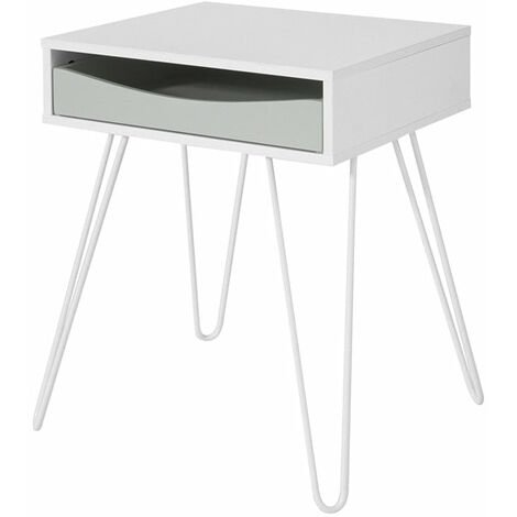 SoBuy Side Table End Table Bedside Table, Coffee Table Bed Sofa Side Table,FBT82-W