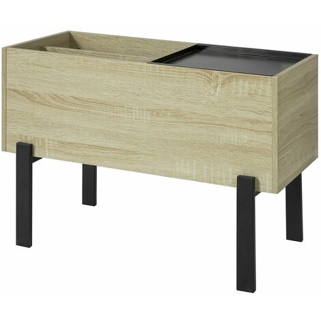 SoBuy Side Table End Table Coffee Table with Removable Tray,FBT88-N