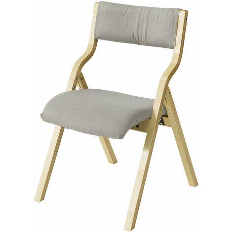 SoBuy® Sillla plegable, sillla de madera, silla de cocina, silla de comedor, FST40-HG, ES