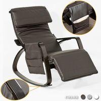 SoBuy® Sillón de relax, Mecedora, Sillón de diseño, Butaca de madera, FST20-BR, ES