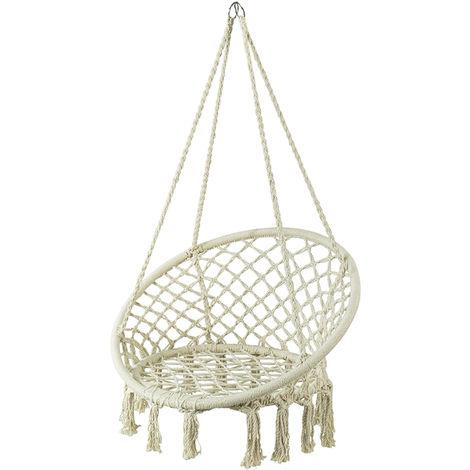 SoBuy Swing Chair Hanging Chair Hammock Chair Indoor Outdoor Garden Patio Balcony Swing Chair,OGS42-MI