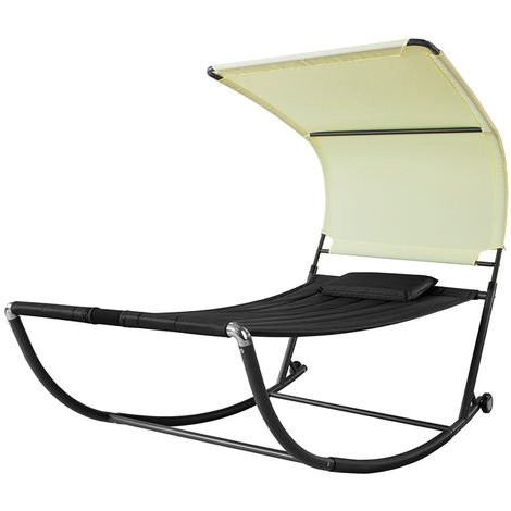SoBuy Swing Sun Bed with Sun Shade Outdoor Garden,OGS44-SCH