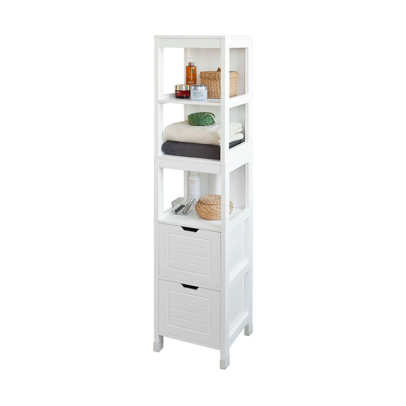 Tall Bathroom Cabinet With Drawers: SoBuy Tall Bathroom Storage Cabinet With 3 Shelves And 2