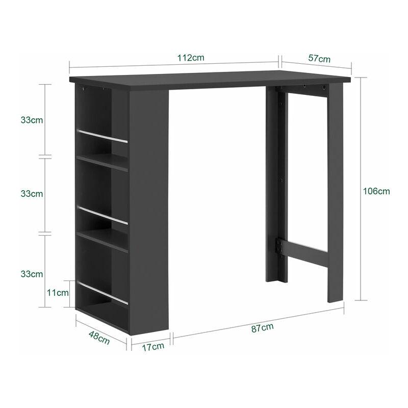 SoBuy Tavolo alto da bar moderni,Bancone stile bar,Tavolo cucina,nero,  FWT17-SCH