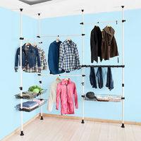 SoBuy Telescopic Wardrobe Organiser Clothes Rack, FRG38