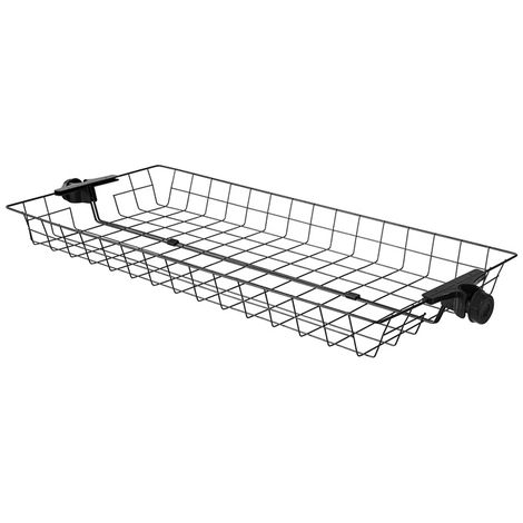 SoBuy Two Storage Baskets for Adjustable Wardrobe Organizer FRG34-P02