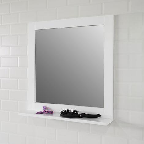 SoBuy Wall Mounted Bathroom Mirror with Shelf, 57 x 12 x 58cm,BZR16-W