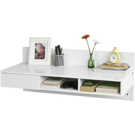 """main image of """"SoBuy Wall-mounted Computer Table Desk, Home Office Desk Workstation,FWT30-W"""""""