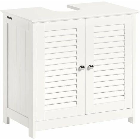 SoBuy Waschbeckenunterschrank Badschrank Waschtisch Unterschrank, Weiß,FRG237-W