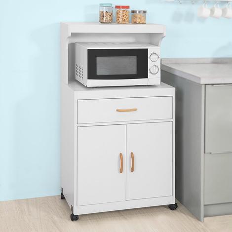 SoBuy Wheeled Kitchen Storage Cupboard Sideboard,FSB12-W