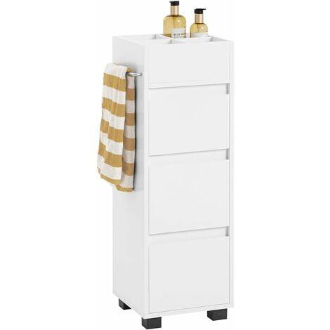 SoBuy White Bathroom Cabinet Bathroom Storage Cabinet Unit with 3 Drawers,BZR29-W