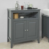 SoBuy Wood Free Standing Bathroom Storage Cabinet with Doors Grey FRG204-DG & Freestanding bathroom furniture | On sale until 5 August 2019!