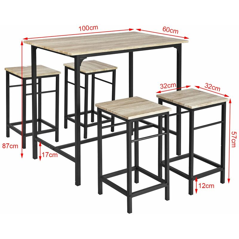 Incredible Sobuy Wood Kitchen Patio Dining Furniture Table Stools Ogt11 N Machost Co Dining Chair Design Ideas Machostcouk