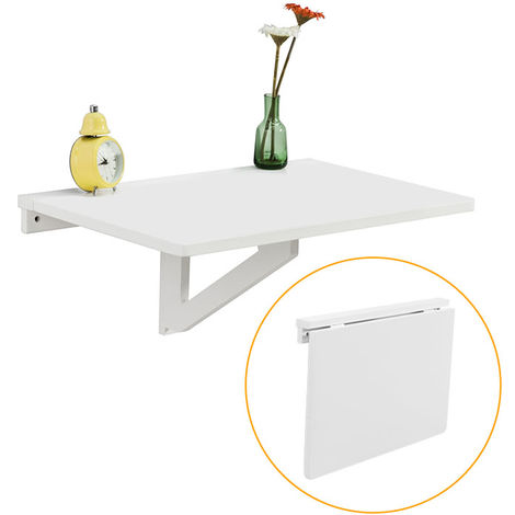 SoBuy Wood Wall-mounted Drop-leaf Table, Folding Kitchen & Dining Table Desk, Children Table, 60x40cm, FWT03-N