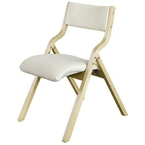 SoBuy Wooden Padded Folding Dining Chair,Beige, FST40-W