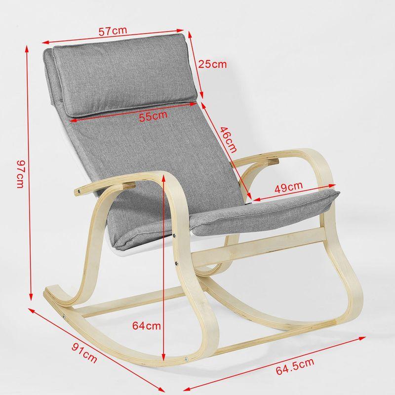 à Relax Fauteuil de Mobilier Confortable bascule jardin j5L3R4A