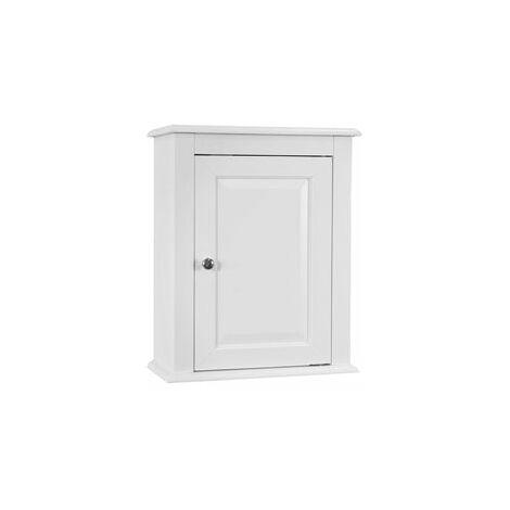 SoBuy®Armario suspendido de baño para la pared con puerta, L 40 x P 18 x H 49cm, blanco, FRG203-W
