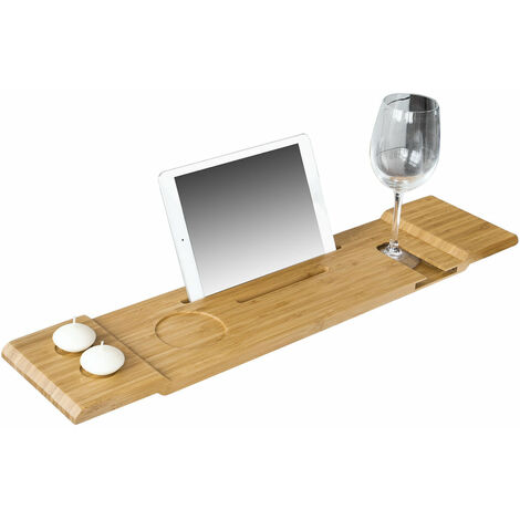 SoBuy®Bandeja de bambú para bañera,estante de baño, L70cm X P15.5cm, FRG104-N, ES