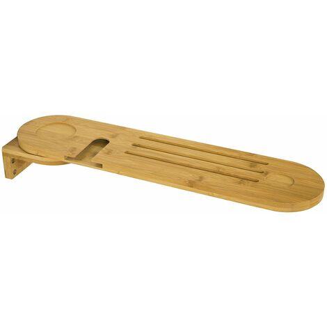 SoBuy®FRG274-N Bandeja de baño para bañera,estante de baño, bambú,L60cm x P15cm,ES