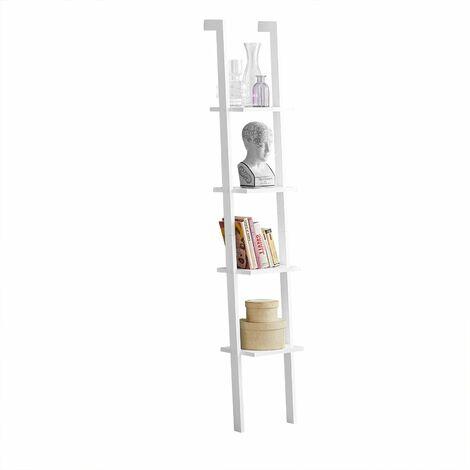 SoBuy®Libreriastanterias de diseñotantería de pared, blanco, 4 estantes, FRG15-W