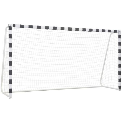 Soccer Goal 300x160x90 cm Metal Black and White