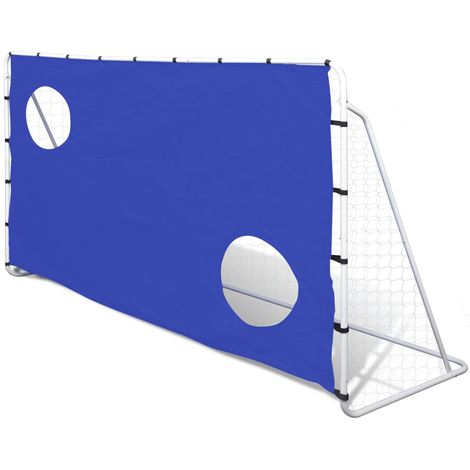 Soccer Goal with Aiming Wall Steel 240 x 92 x 150 cm