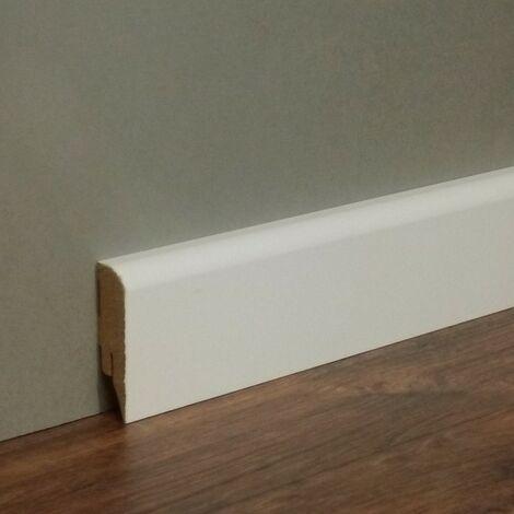 Sockelleiste / Fußleiste / Bodenleiste Alba-1 (72040) - Weiß