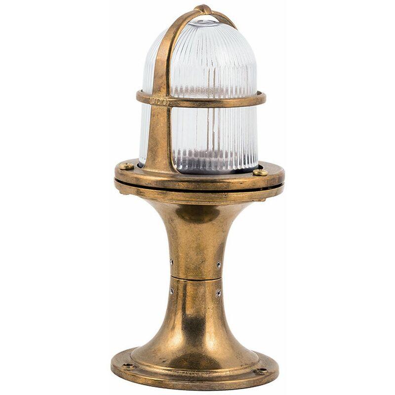 Sockelleuchte Gartenlampe aus Messing H:25cm Garten Weg