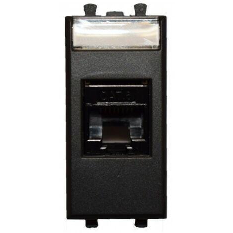 Socket de Datos Ave Tekla RJ45 CAT.6 UTP color negro 1 módulo 445027C6