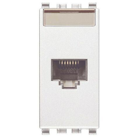 Socket de datos Rj45 Vimar Eikon blanco Cat 5E UTP 20338.8.B