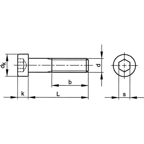 Socket Head Cap Screw, Metric - Steel - Grade 8.8 - Low Head -  DIN 7984