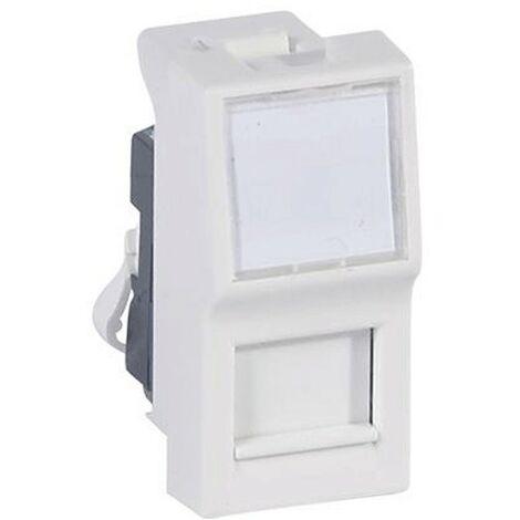 Socket Legrand Vela blanca RJ45 a internet por cable utp cat.6 687085