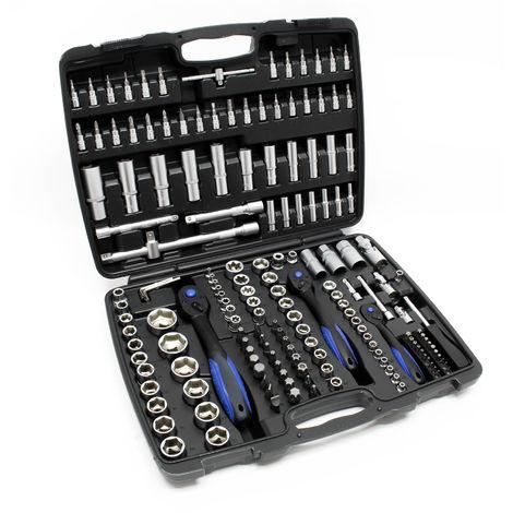 Socket Set 172 pcs 1/2 1/4 3/8 Drive Spanners Ratchets