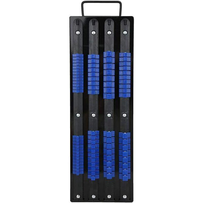 Briday - Socket Tray 1/4 3/8 1 / 2inch 80 Socket Clips Socket Rail Clips Rack Organizer Holder